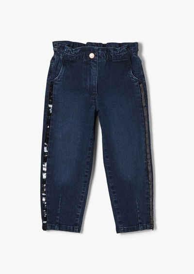 s.Oliver 5-Pocket-Jeans »Regular: Paperbag-Jeans« Waschung