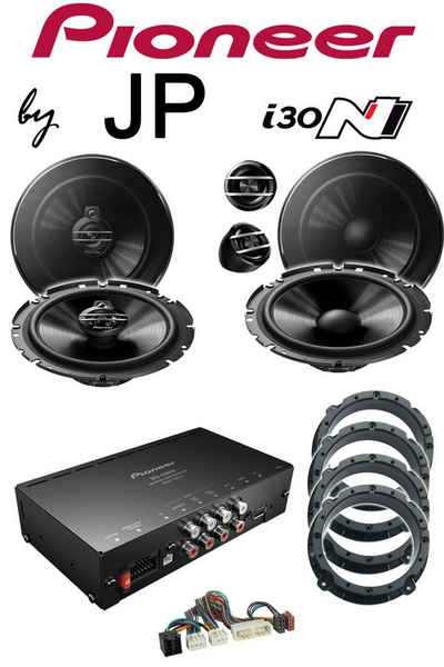 Pioneer »Hyundai i30 i30N by JP Pioneer Sound II Upgrade mit Lautsprecher System BOXEN Verstärker DSP Adapterringe Kabel« Vollverstärker