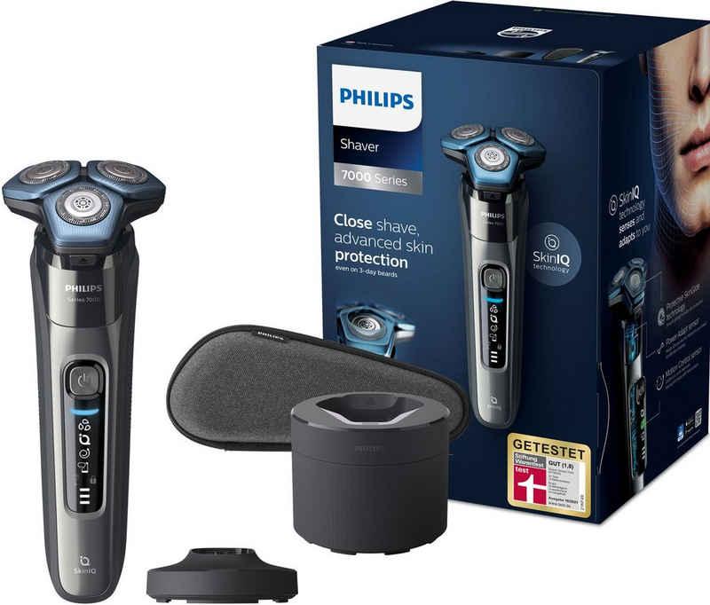 Philips Elektrorasierer Series 7000 S7788/55, Reinigungsstation, mit SkinIQ Technologie