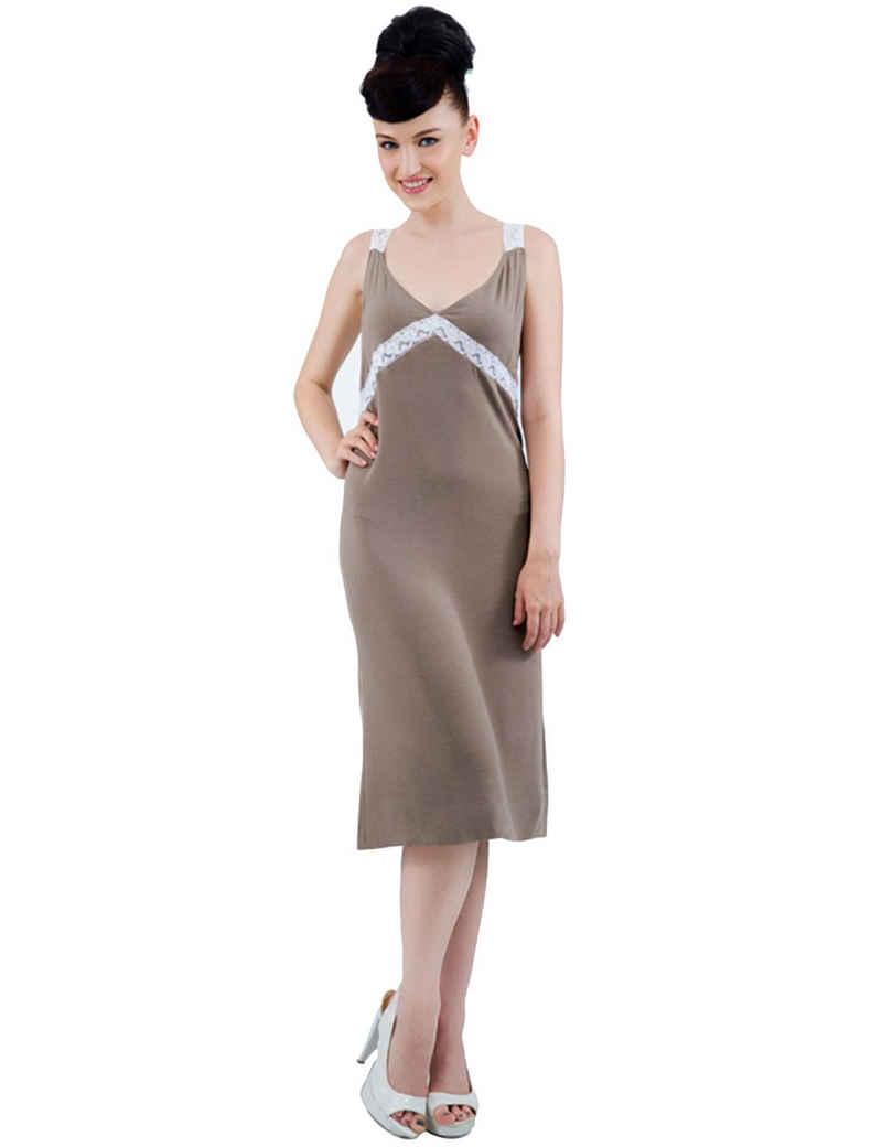 RAIKOU Nachthemd »RAIKOU Enges, Langes Kleid Aus Viskose Mit Spitze, Schlafkleid,Nachtwäsche« bequem zu tragen