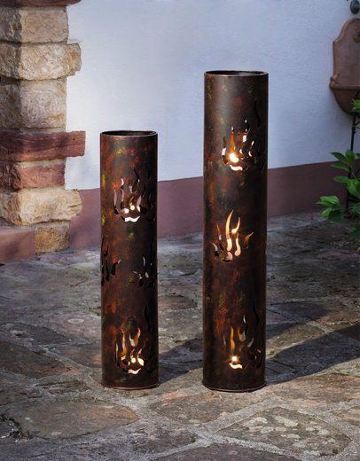 HomeLiving Windlicht »Flammen«