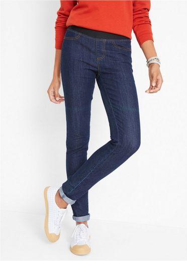 bonprix Leggings »Kombinationsstarke Basic-Leggings in Jeansoptik mit angedeuteten Taschen«