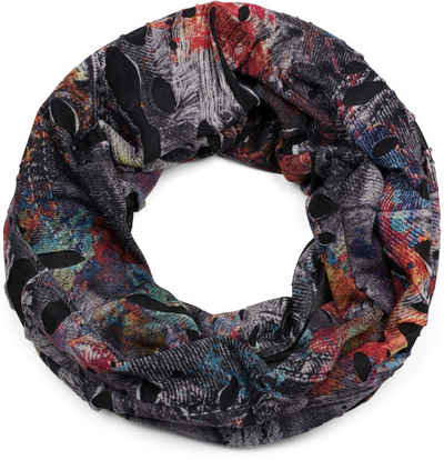 styleBREAKER Loop »Loop Schal mit Farbklecksen in Destroyed Optik« Loop Schal mit Farbklecksen in Destroyed Optik