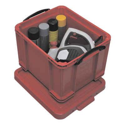 REALLYUSEFULBOX Aufbewahrungsbox, 35 Liter, blickdicht, verschließbar und stapelbar