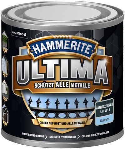 Hammerite Metallschutzlack »ULTIMA«, 3in1, anthrazitgrau RAL 7016, glänzend