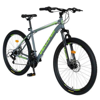 Velors Mountainbike »27,5 Zoll Mountainbike Hardtail Fahrrad MTB«, 18 Gang, Kettenschaltung, (Schaltung Trekkingrad Fitnessbike), Stahlrahmen, Scheibenbremsen