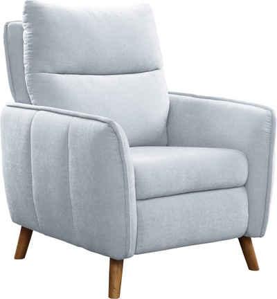 ATLANTIC home collection Sessel »Neo«, im skandinavischem Design mit Relaxfunktion und Taschenfederkern