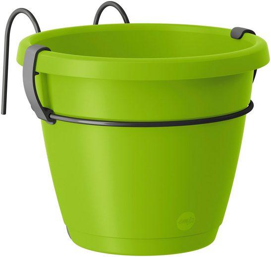 Emsa Set: Blumenkasten »CITY Hängetopf«, BxTxH: 20x26x17,6 cm, 40,1x26x17,6 cm, grün