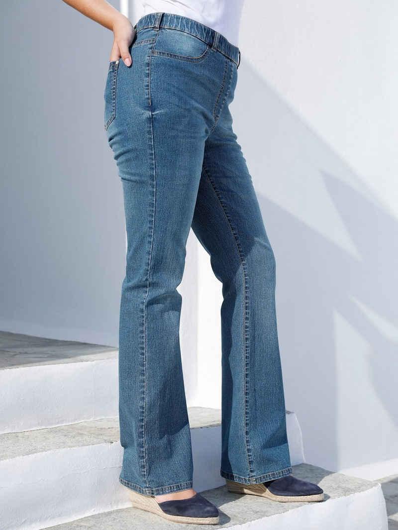 MIAMODA Bootcut-Jeans mit ausgestelltem Bein