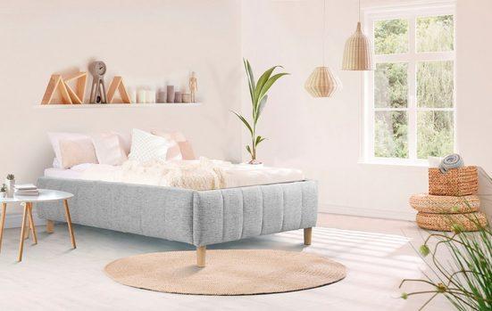 andas Polsterbett »Tarje«, Ohne Kopfteil - ideal für Dachschrägen oder Eigengestaltung der Wand am Bett, in 5 Breiten, auch in Überlänge 220 cm, incl. Roll-Lattenrost