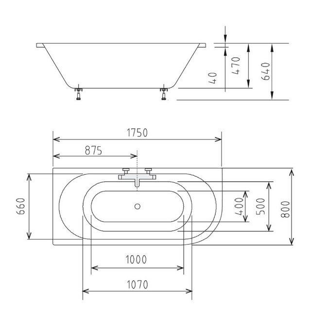 Badewannen und Whirlpools - HAK Badewanne »VIVA«, 175x80x47 cm, links  - Onlineshop OTTO