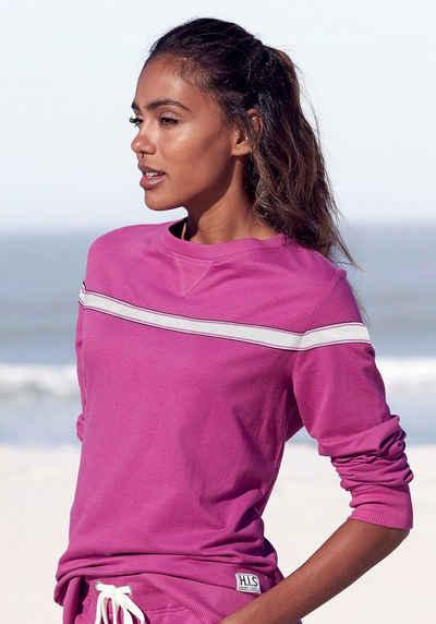 H.I.S Sweater mit kontrastfarbigem Tape