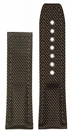 hanhart Uhrenarmband »Uhrenarmband PRIMUS Textil grün (ohne Schließe)«