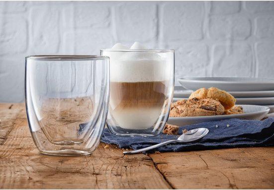 WMF Gläser-Set »Kult Coffee«, Glas, Doppelwandige Ausführung mit Thermoeffekt