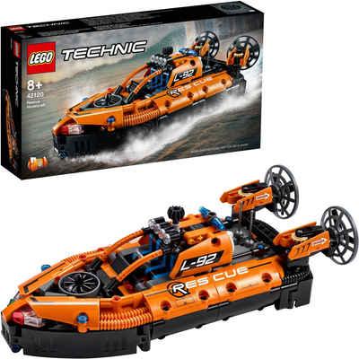 LEGO® Konstruktionsspielsteine »Luftkissenboot für Rettungseinsätze (42120), LEGO® Technic«, (457 St), Made in Europe