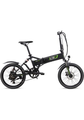 LLobe E-Bike »City III schwarz« 7 Gang Shima...