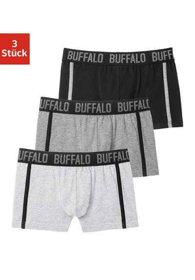 Buffalo Boxer (3 Stück) mit Paspel an der Seite
