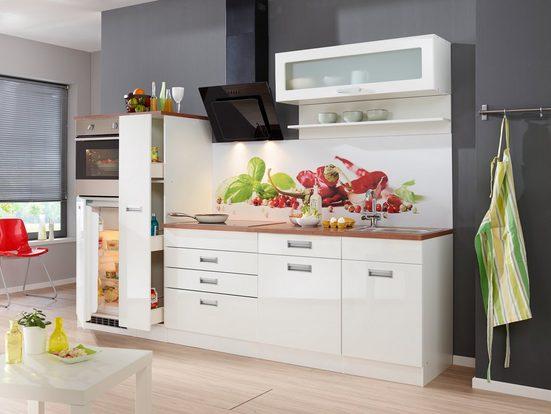 HELD MÖBEL Küchenzeile »Fulda«, mit E-Geräten, Breite 270 cm