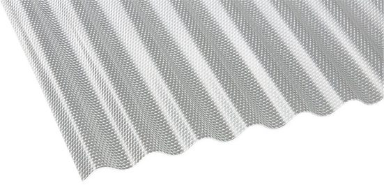 GUTTA Wellplatte Polycarbonat klar, Wabe, BxL: 104x200 cm