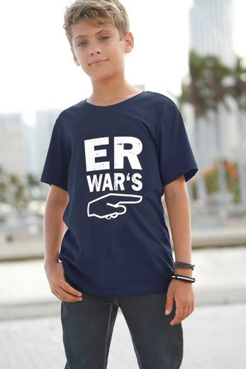 KIDSWORLD T-Shirt »Er war´s«