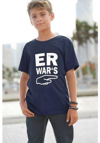 KIDSWORLD Marškinėliai »Er war´s«
