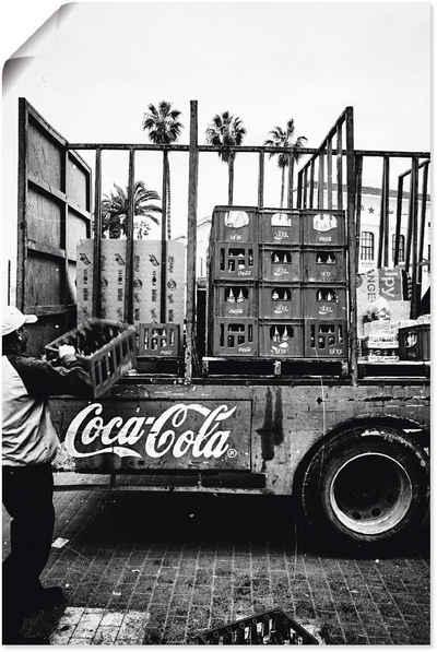 Artland Wandbild »CocaCola-LKW in El Jadida - Marokko«, Auto (1 Stück), in vielen Größen & Produktarten - Alubild / Outdoorbild für den Außenbereich, Leinwandbild, Poster, Wandaufkleber / Wandtattoo auch für Badezimmer geeignet