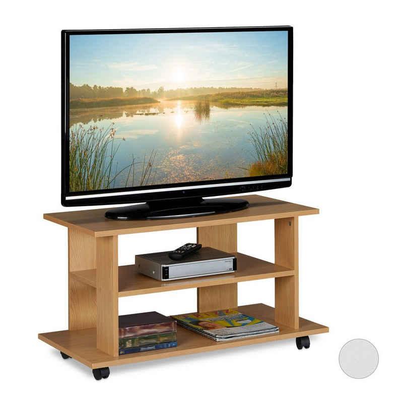 relaxdays TV-Regal »TV Board fahrbar«
