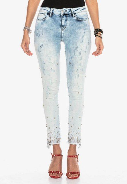 Hosen - Cipo Baxx Slim fit Jeans mit raffinierten Nietendetails in Skinny Fit ›  - Onlineshop OTTO