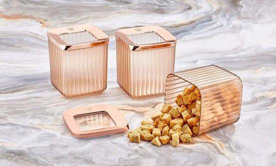 Vip Ahmet Vorratsdose »Vorratsdosen Behälter Set Aufbewahrung 3tlg Set Lebensmittelbehälter Vorratsbehälter«, (3-tlg)