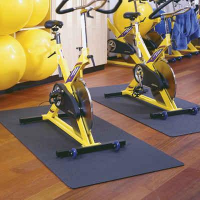 Friedola Bodenmatte »Universal Unterlegmatte für Fitnessgeräte 60x120cm schwarz Bodenschutzmatte Schutzmatte Fitnessmatte«