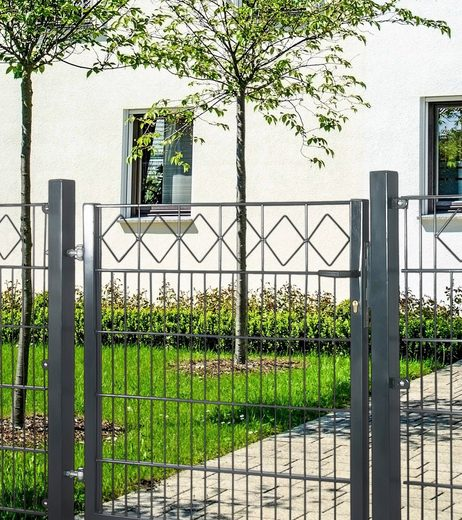ARVOTEC Zaun-Einzeltür »Karo«, BxH: 100x100 cm