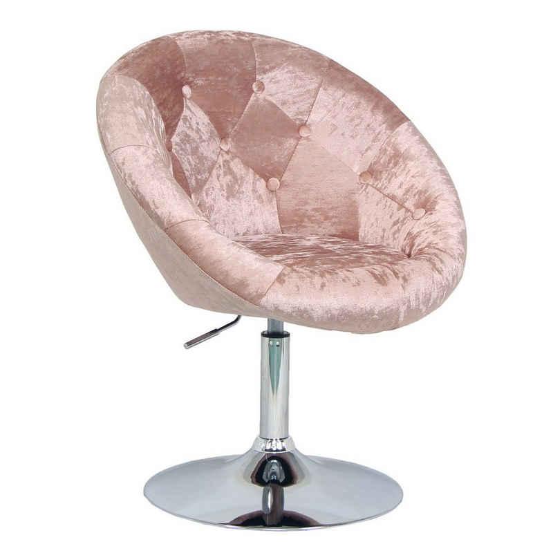 SVITA Chesterfield-Sessel »HAVANNA«, Retro-Design, aus pflegeleichtem Polyester, kippsicherer Tellerfuß, Bezug des Sessels ist kapitoniert, stufenlos höhenverstellbar