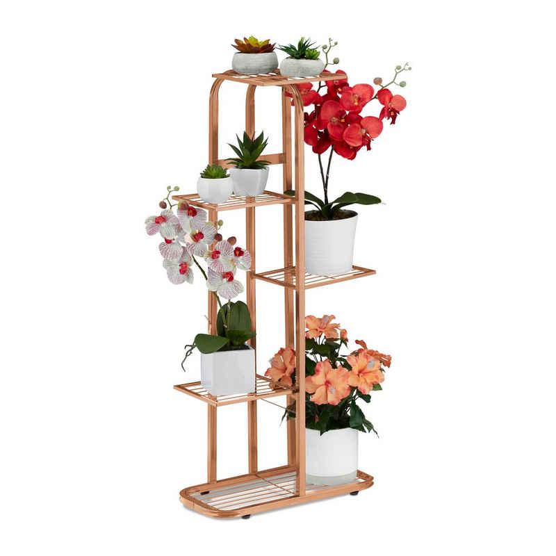 relaxdays Blumenständer »Blumentreppe Metall 5 Ablagen«