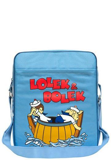LOGOSHIRT Schultertasche mit Lolek und Bolek-Aufdruck »Auf Hochsee«