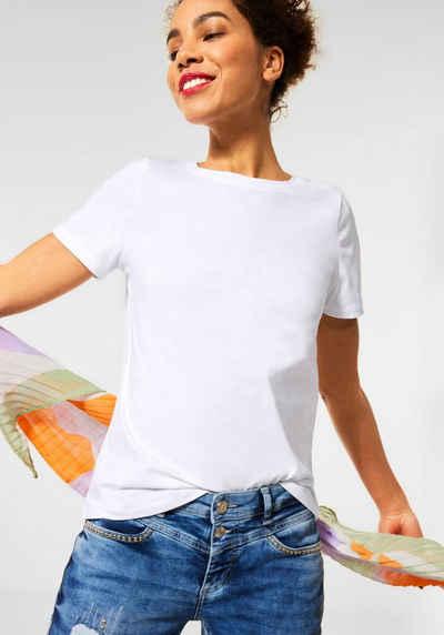 STREET ONE T-Shirt im einfarbigen Basic-Look