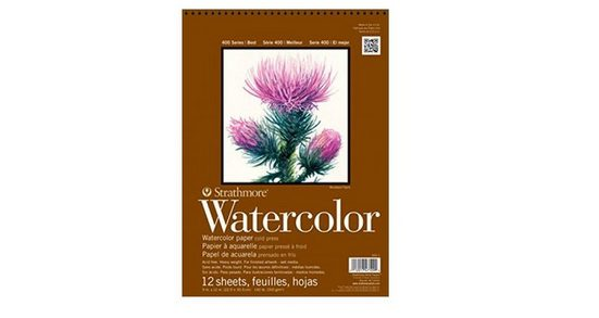 Strathmore Artist Papers™ Aquarellpapier »400 Series Watercolor, Spiralblock, 22,9 x 30,5 cm, 300 g/m², 12 Blatt«