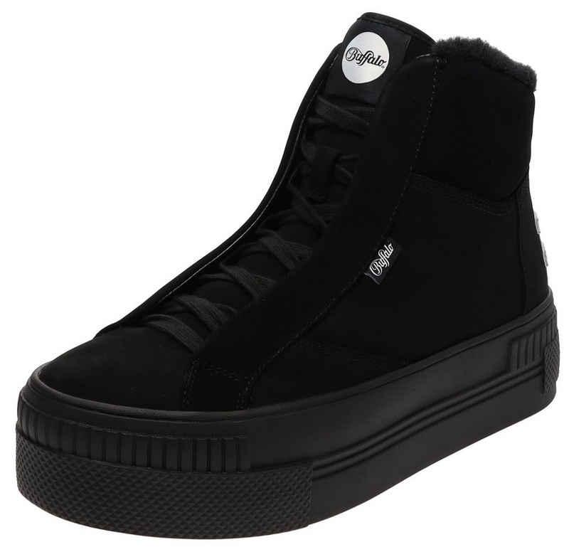 Buffalo »PAIRED PH Black Damen High-Top Sneaker mit Kunstfellfutter Schwarz« Schnürschuh
