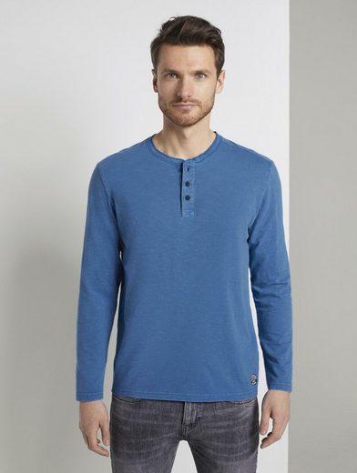 TOM TAILOR T-Shirt »Langarmshirt im Washed-Look«