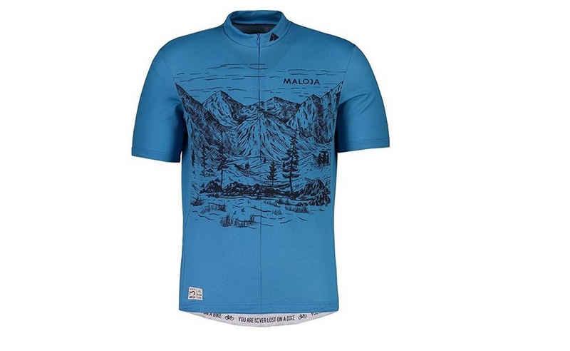 Maloja Funktionsshirt »Maloja Bike Zip-Shirt Serlasm blau«