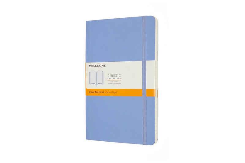 MOLESKINE Notizbuch, Classic Collection - Soft Cover - L/A5 Groß (13x21) - mit weichem Einband - 70g-Papier