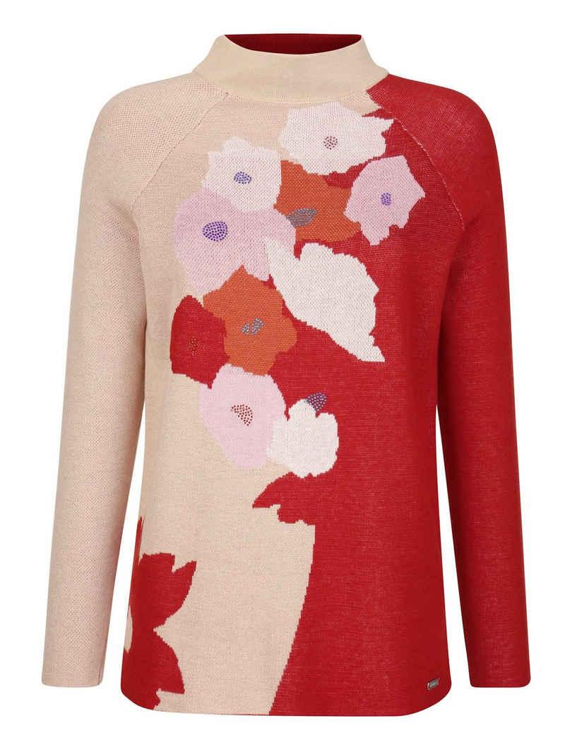 Amy Vermont Rundhalspullover mit floralem Muster