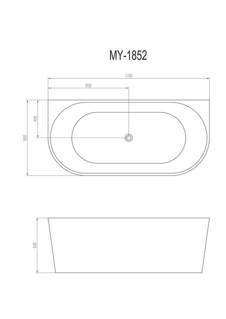 Badewannen und Whirlpools - WELLTIME Badewanne »New Granada«, Freistehende Wanne, 170 x 80 cm  - Onlineshop OTTO