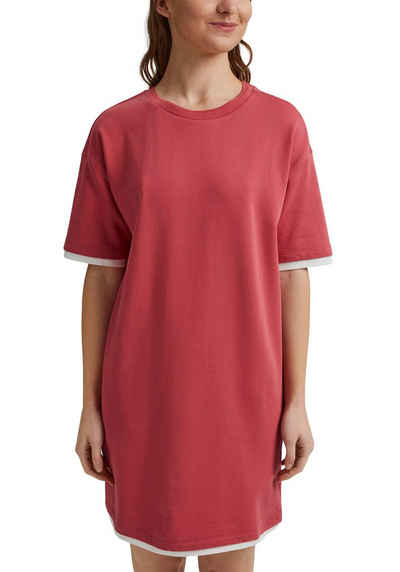 edc by Esprit Shirtkleid mit doppelter, kontrastfarbener Kante