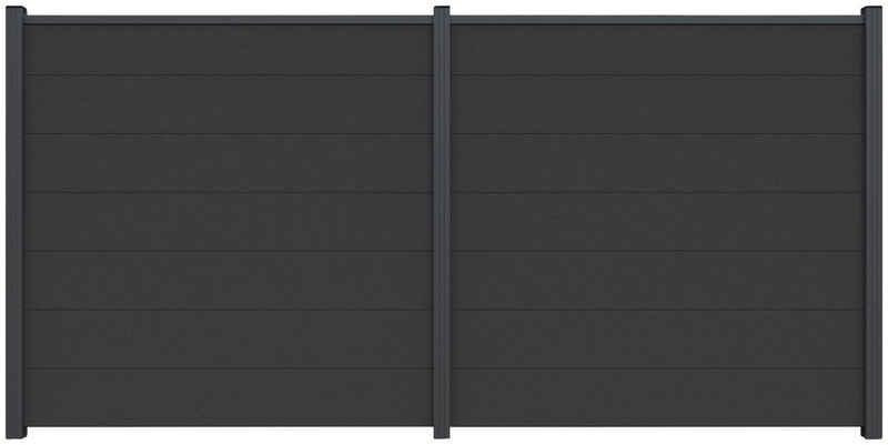 Kiehn-Holz Sichtschutzelement, (Set), LxH: 360x180 cm, Pfosten zum Einbetonieren