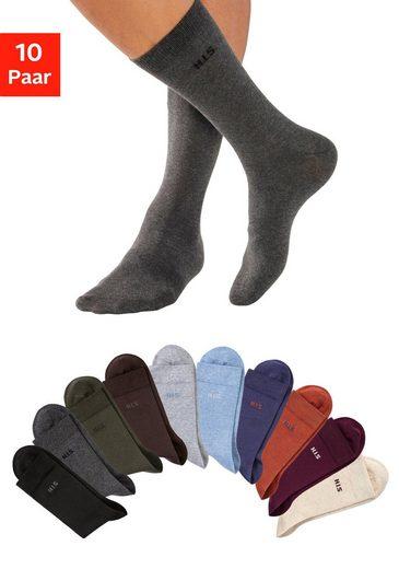H.I.S Socken (10-Paar) mit farbigem Innenbund