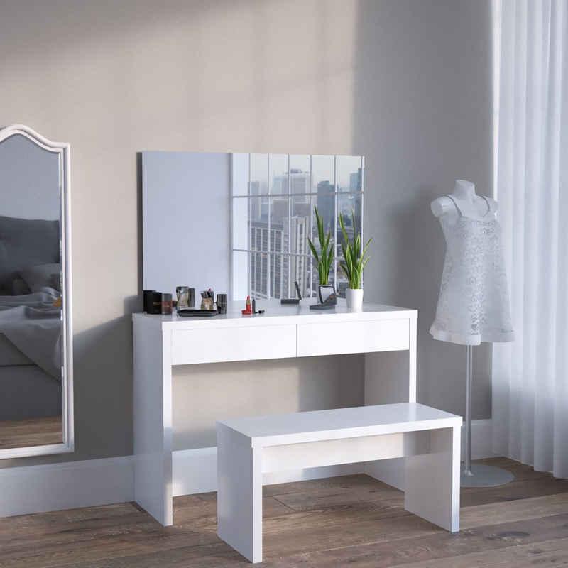 Vicco Dekospiegel »Spiegel für Schminktisch Kosmetiktisch Schminkspiegel Frisiertisch Weiß«