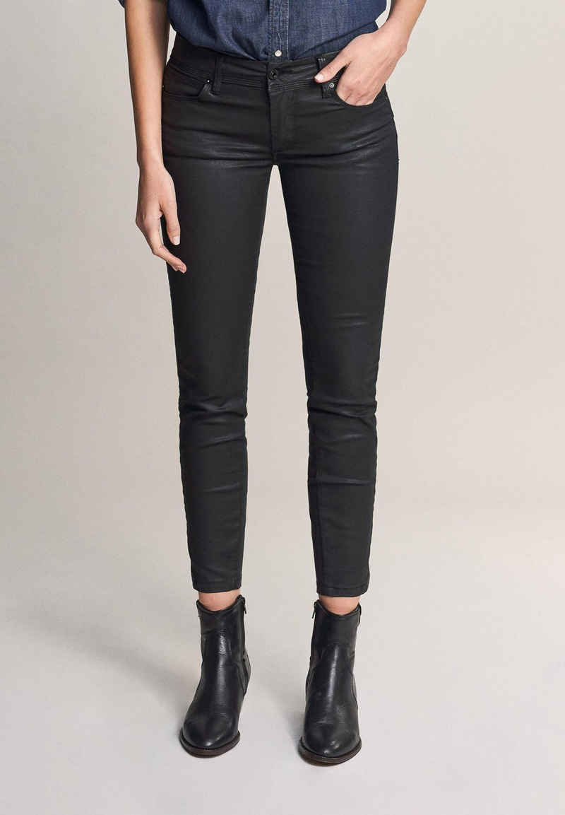 Salsa 3/4-Jeans »Wonder« Push Up, cropped, gecoated