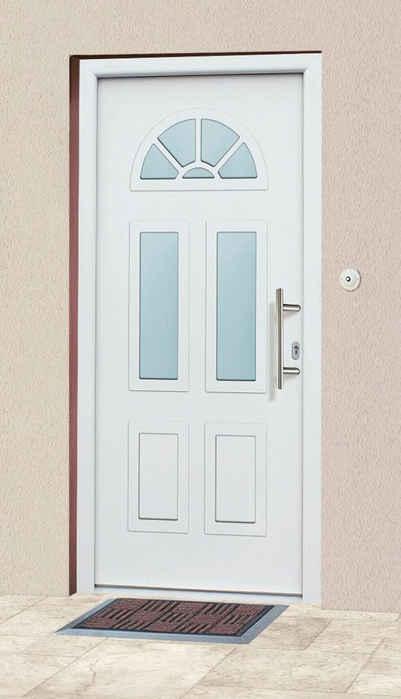 KM Zaun Haustür »A02«, BxH: 98x208 cm, weiß, in 2 Varianten