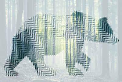 Architects Paper Fototapete »Atelier 47 Bear Forest 1«, glatt, Wald, (4 St)