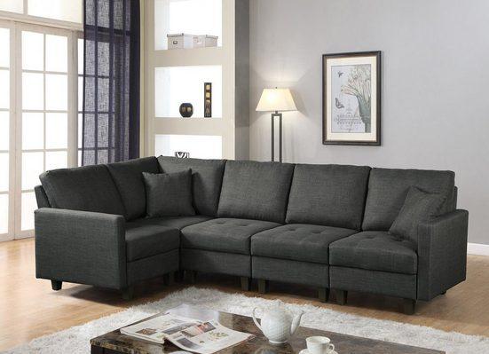 HOME DELUXE Sofa »Neapel«, 1 Teile, breite bequeme Sitzfläche